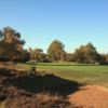 A view of green #8 at Hotchkin Course from Woodhall Spa Golf Club at National Golf Centre