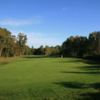 A view of the 17th hole at Hotchkin Course from Woodhall Spa Golf Club at National Golf Centre