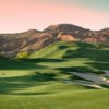 A view of the 14th green at Wolf Creek Golf Club