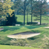 A view of a hole protected by bunkers from Spotswood Executive at Golden Horseshoe Golf Club