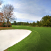 A fall day view of a fairway at Statesville Country Club