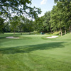 A view of green #11 at Moundbuilders Country Club