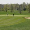 A view of green #8 at Deerfield Golf Course