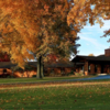 A splendid fall day view of the clubhouse at Sharon Golf Club