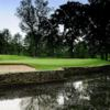 A view over the water of a hole at Woodbridge Country Club