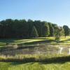 View from the par-3, 180 yards 17th hole on the Alpine course at Boyne Mountain