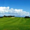 A view of the signature hole at Playa Mujeres Golf Club