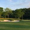 A view of a hole protected by tricky bunkers at Tennessee National Golf Club