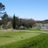 A view of a tee at Barbaroux Golf Club