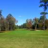 A fall day view of a hole at Northwoods Golf Course