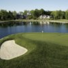 A view of a hole with water coming into play at Bridgewater Club