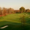 A fall day view of a fairway at Bridgewater Club
