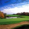 A fall day view of a green at Montauk Downs State Park Golf Course (The Friends of Montauk Downs)