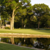 A view of a hole with water coming into play at Old Oaks Golf Course.
