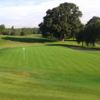 A view of a hole protected by bunkers at Hermitage Golf Club