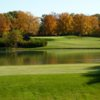 A fall day view of a hole at Exmoor Country Club
