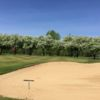 A view of a hole protected by a bunker at McHenry Country Club
