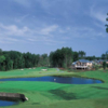 A view of a hole with water coming into play at Brier Creek Country Club
