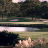 A view of a green with water coming into play at Sawgrass Country Club