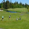 A view of a tee at Semiahmoo Golf & Country Club