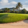 A view of a hole protected by a bunker at North Course from La Manga Club Golf Resort