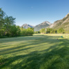 A view from the 5th tee at Waterton Lakes Golf Course