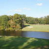 A view of hole #18 from Golden Eagle Golf Club at Tides Inn Resort