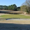 A view of the 8th green with bunkers and water coming into play at Waynesboro Country Club