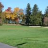 A fall day view from a tee at Burlington Country Club