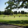 A view of the practice putting green at Pitman Golf Course