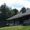 A view of the clubhouse at Megunticook Golf Club