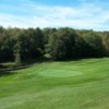 A sunny day view of a hole at Granliden On Sunapee Golf Course