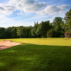 A view of the 14th green at Little Aston Golf Club