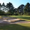 A view of the 1st green at Woodlands Golf Club