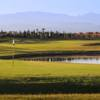 A view of a green with water coming into play at Palm Golf Marrakech Ourika