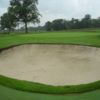 A view of a green protected by a large tricky bunker at Garden City Golf Club (Letters From The Links)