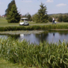 A view over a pond at Piney Run Golf Course