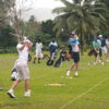 A view of the driving range at Port Vila Golf & Country Club