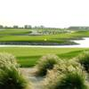 A view of a green with water coming into play at Sahara Golf & Country Club