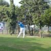 A view of a tee at Lahore Garrison Golf & Country Club