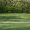 A view of a hole flanked by bunkers at Lebanon Valley Golf Course