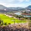A view of a green protected by bunkers at CostaBaja Golf Club and Resort