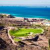 A view of a hole and water in the distance at CostaBaja Golf Club and Resort