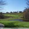 A sunny day view from a tee at Diamond Run Golf Club