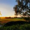 A sunset view of a hole at Golf de Mogador