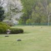 A spring day view of a tee at Phoenixville Country Club