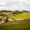 A view of the driving range at Thracian Cliffs Golf Resort & Spa