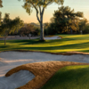 A view of a hole protected by bunkers at Pinnacle Peak Country Club