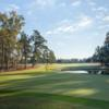 A view of a green with water coming into play at Orangeburg Country Club