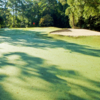 A view of a well protected green at Lancaster Golf Club
